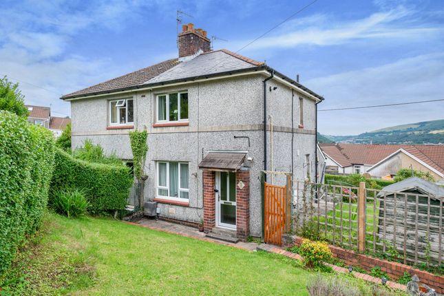 Thumbnail Semi-detached house for sale in Gellideg Road, Maesycoed, Pontypridd
