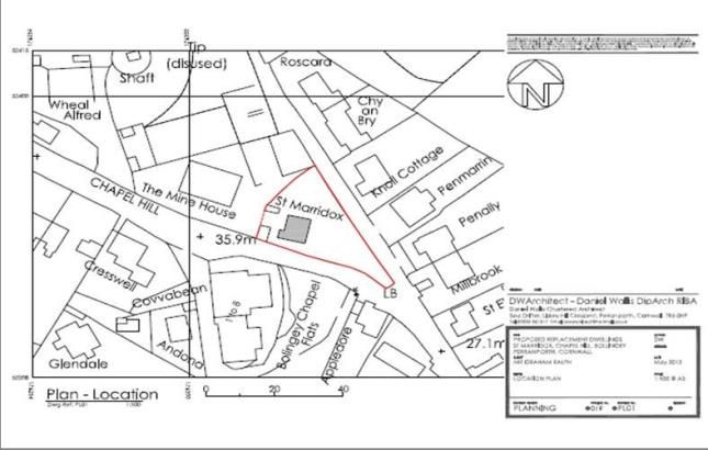 Site Plan of Bolingey, Perranporth, Cornwall TR6