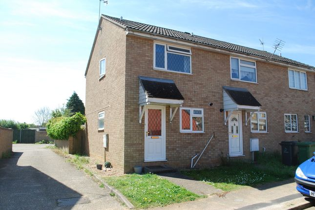 Thumbnail End terrace house to rent in Keats Close, Thetford