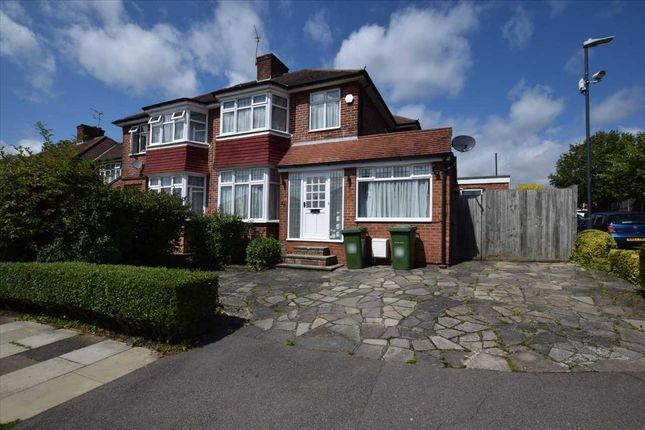 Thumbnail Semi-detached house to rent in Crowshott Avenue, Stanmore