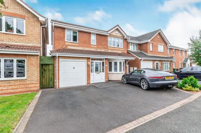 Thumbnail Detached house for sale in Sherlock Close, Willenhall, West Midlands