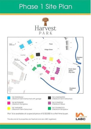 Site Plan of Harvest Park, Silloth, Wigton CA7