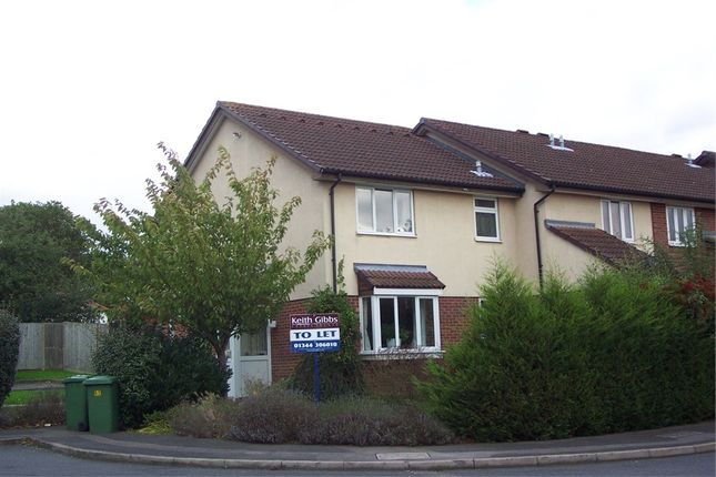 Thumbnail End terrace house to rent in Angel Place, Foxley Fields, Binfield, Berkshire