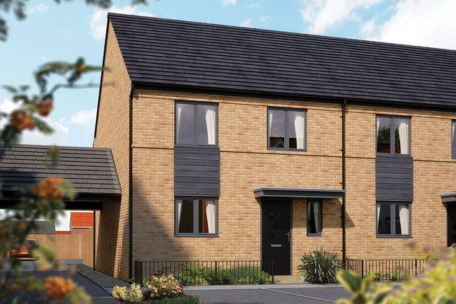 "Thumbnail Semi-detached house for sale in ""The Salisbury"" at Limousin Avenue, Whitehouse, Milton Keynes"