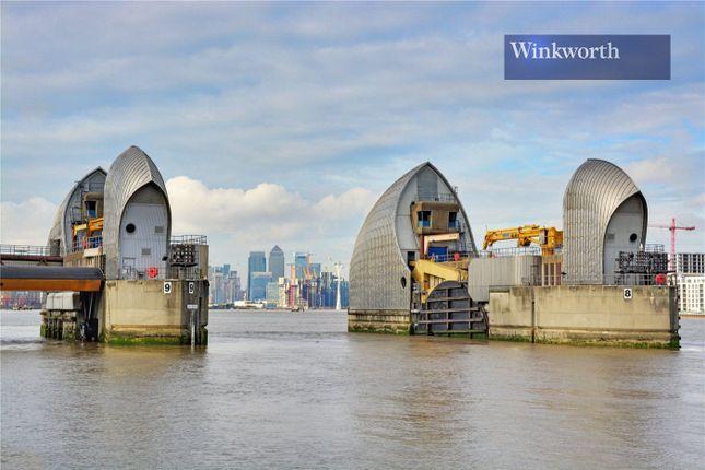 Thames Barrier of Mizzen Mast House, Mast Quay, Woolwich, London SE18