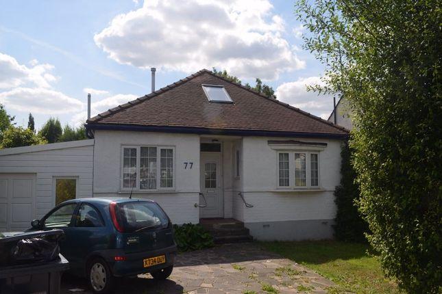 Thumbnail Detached bungalow to rent in Devonshire Road, London