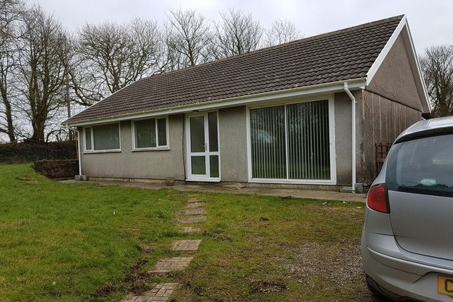 Thumbnail Detached bungalow to rent in Velindre, Crymych