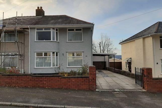 Thumbnail Semi-detached house for sale in Cimla Crescent, Cimla, Neath