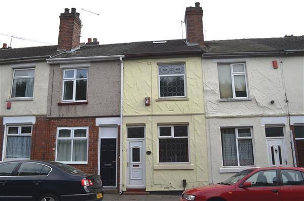 Thumbnail Terraced house for sale in Castlefield Street, Shelton, Stoke-On-Trent