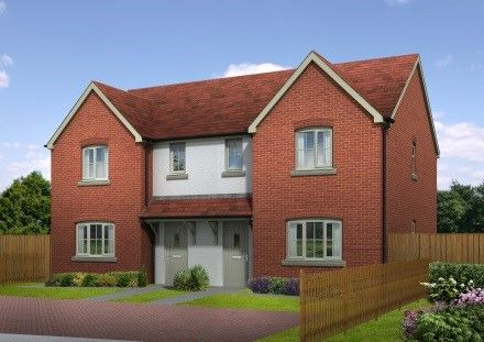Thumbnail Semi-detached house for sale in Quarry Field, Lugwardine, Herefordshire