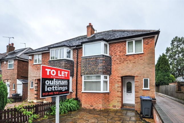 3 bed semi-detached house to rent in Barron Road, Northfield, Birmingham, West Midlands B31