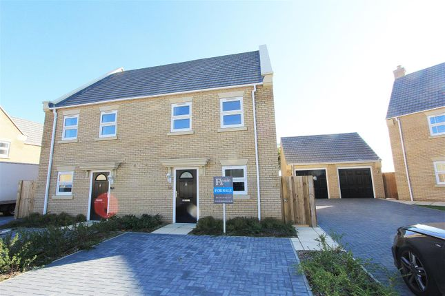Thumbnail Semi-detached house for sale in Penwald Court, Peakirk, Peterborough