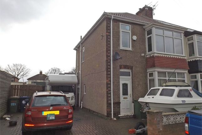 Thumbnail Semi-detached house for sale in Queensland Avenue, Redcar, North Yorkshire