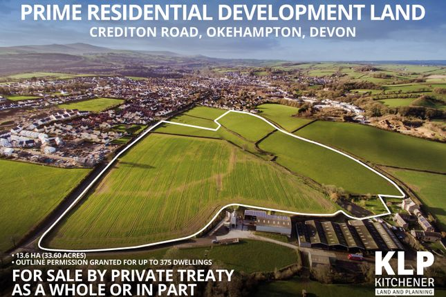 Thumbnail Land for sale in Site For 375 Dwellings, Okehampton