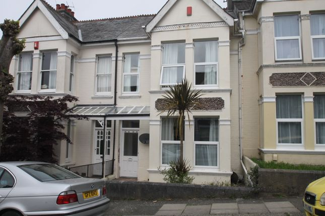 Thumbnail Terraced house to rent in Edgecumbe Park Road, Peverell