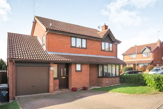 Thumbnail Detached house for sale in Bakewell Close, West Hunsbury, Northampton