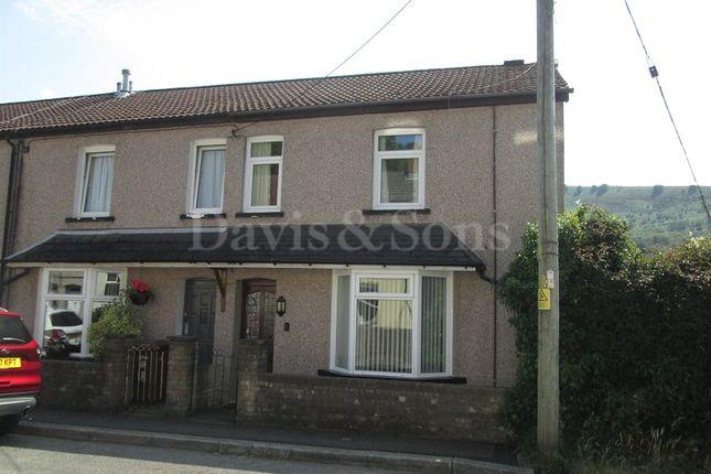 Thumbnail End terrace house for sale in Medart Street, Crosskeys, Newport.