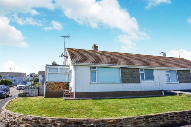 Thumbnail Semi-detached bungalow for sale in Tredinnick Way, Perranporth