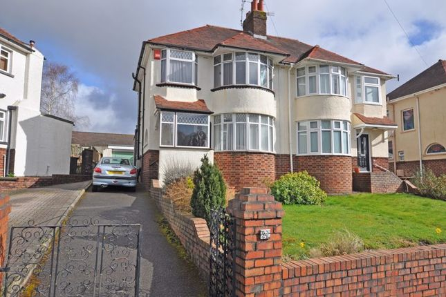 Thumbnail Semi-detached house for sale in Bay-Fronted House, Ridgeway Avenue, Newport