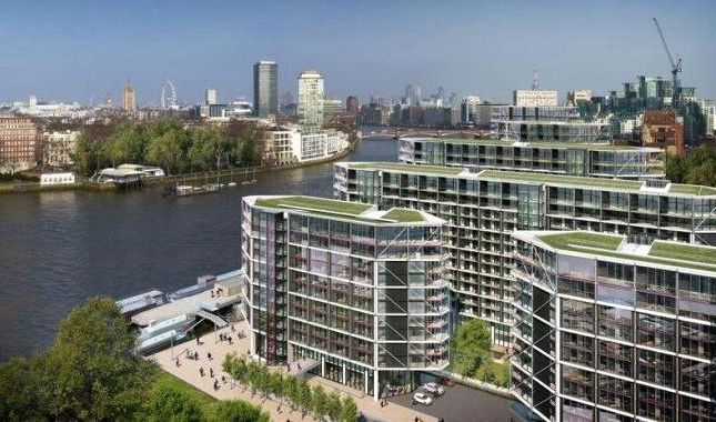 Thumbnail Flat for sale in 5 Riverlight Quay, London