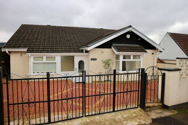 Thumbnail Detached bungalow for sale in Aneurin Crescent, Twynyrodyn, Merthyr Tydfil