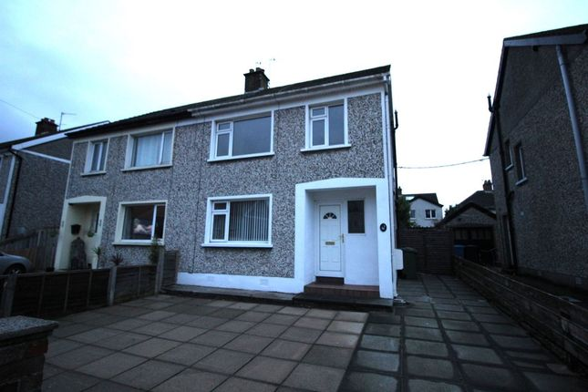 Thumbnail Semi-detached house to rent in Broomhill Park, Bangor