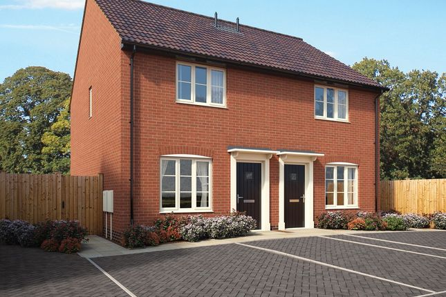 Thumbnail Semi-detached house for sale in Old Station Road, Mendlesham, Stowmarket