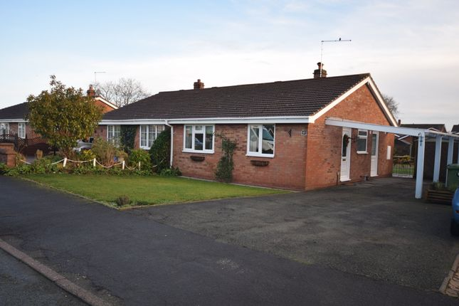 Thumbnail Semi-detached bungalow for sale in Somerset Way, Wem, Shrewsbury