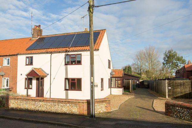 Thumbnail End terrace house for sale in The Street, Sculthorpe, Fakenham