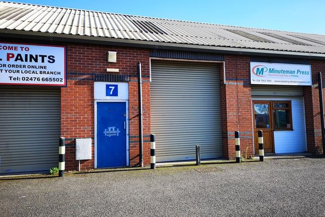 Thumbnail Light industrial to let in Unit 7 Hanford Close, Stoney Stanton Road, Coventry