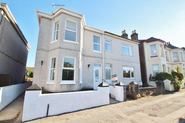 Thumbnail Semi-detached house for sale in Liskeard Road, Saltash, Cornwall
