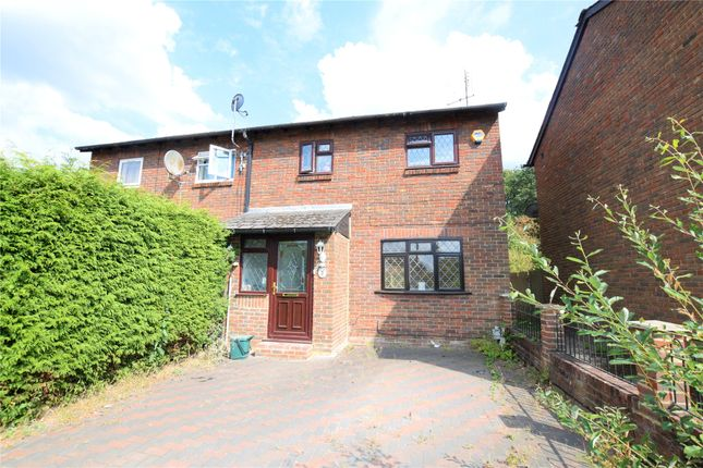 Thumbnail End terrace house to rent in Old Pond Close, Camberley, Surrey