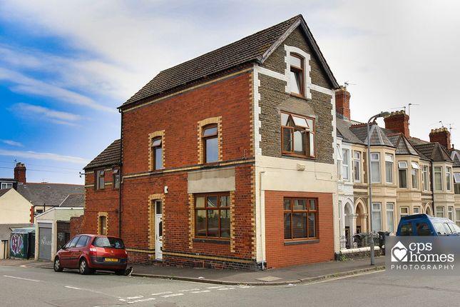 Thumbnail End terrace house for sale in Tewkesbury Street, Roath, Cardiff