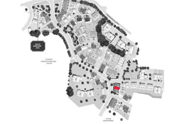 Site Map of Hollyfields, Hawkenbury Road, Tunbridge Wells, Kent TN2