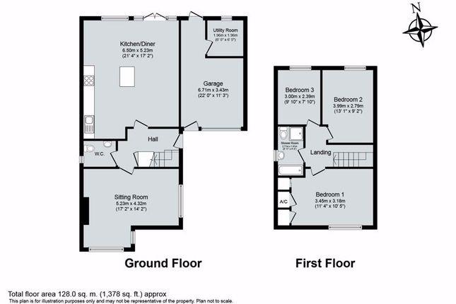 Floor Plan of Freeborn Close, Kidlington OX5