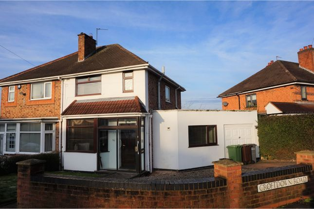 Thumbnail Semi-detached house for sale in Croft Down Road, Solihull