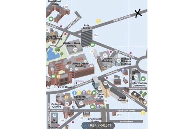 Location of Powell Street, Sheffield S3