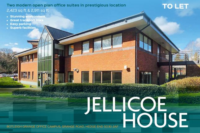 Thumbnail Office to let in Ground Floor West Wing, Jellicoe House, Grange Drive, Southampton