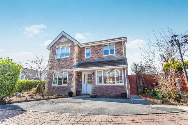 Thumbnail Detached house for sale in Willow Close, Beddau, Pontypridd
