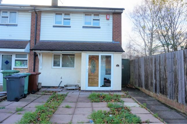 Thumbnail End terrace house for sale in Hucker Road, Walsall