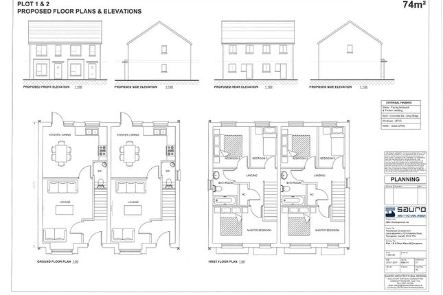 Thumbnail Semi-detached house for sale in Adjacent To 123, Waterloo Road, Penygroes, Llanelli, Carmarthenshire.