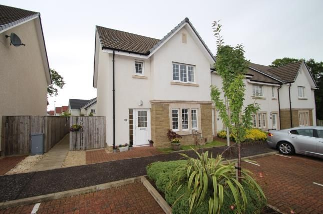 Thumbnail End terrace house for sale in Crown Crescent, Larbert, Stirlingshire