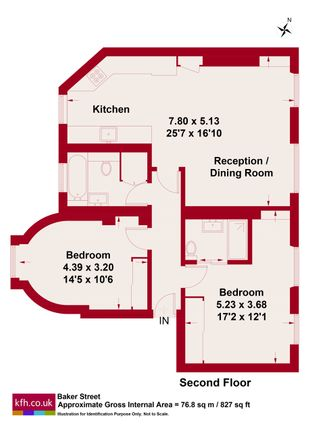 Floor Plan of Baker Street, London NW1