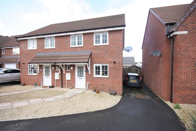 Thumbnail Semi-detached house for sale in Laxton Crescent, Evesham