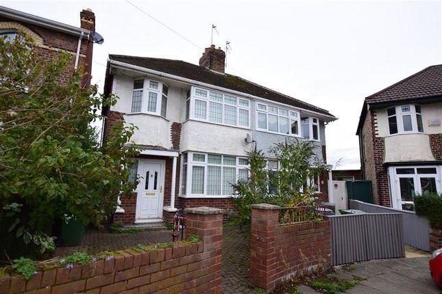 Thumbnail Semi-detached house to rent in Moss Grove, Birkenhead, Merseyside