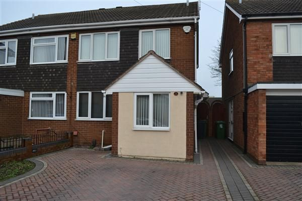 Thumbnail Semi-detached house to rent in Hill Street, Wednesbury, Wednesbury