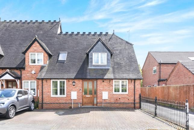 Thumbnail End terrace house for sale in Woodside Court, Church Lane, Cookhill, Alcester