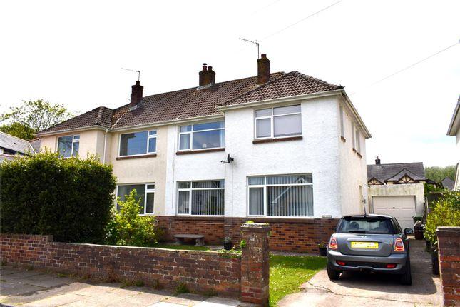 Thumbnail Semi-detached house for sale in Bryneglwys Avenue, Newton, Porthcawl