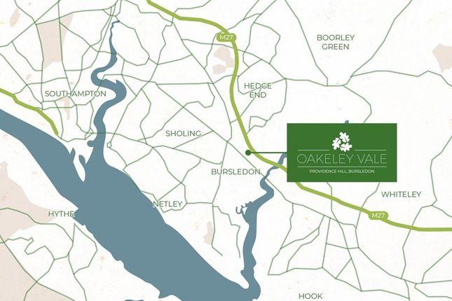 Location-Map of Forge Close, Bursledon, Southampton SO31