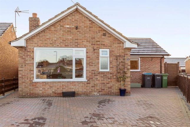 Thumbnail Detached bungalow for sale in Meadowfields Close, Easingwold, York